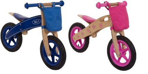 Laufrad Woody Blau und Pink Geschenk fuer Zwillinge Treppy online kaufen bei Twinsworld.de